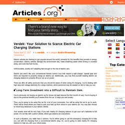 Verdek: Your Solution to Scarce Electric Car Charging Stations
