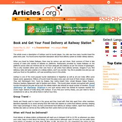 Get Find The Best Food Delivery at Railway Station