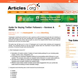 Guide for Buying Twitter Followers - Reviews & Advice