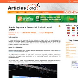 How to Organize a Successful Product Launch Event?
