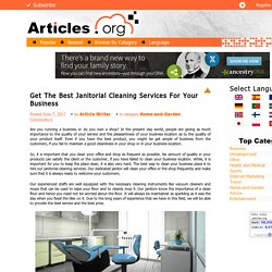 Best Janitorial Cleaning Services For Your Business