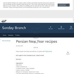 Sunday Brunch - Articles - Persian New Year recipes - All 4
