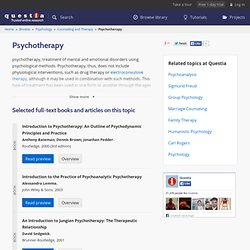 Psychotherapy - Research and Read Books, Journals, Articles at Q