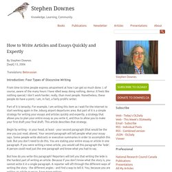 How to Write Articles and Essays Quickly and Expertly