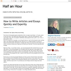 How to Write Articles and Essays Quickly and Expertly - StumbleUpon