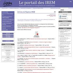 Articles de Repères IREM - Le portail des IREM
