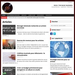 Articles - Rock ! The Music Business