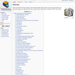 Articles - SSAS-WIKI