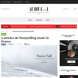 5 articles de Storytelling made in France - Off / Edit-Place