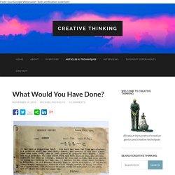 Articles & Techniques