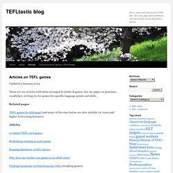 Articles on TEFL games