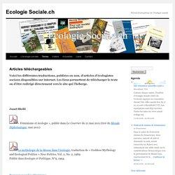 Articles téléchargeables