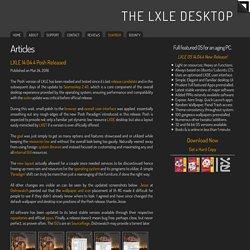 Articles < The LXLE Desktop