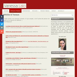 Articles & Travaux