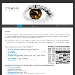 Articles on Eyes for Lies