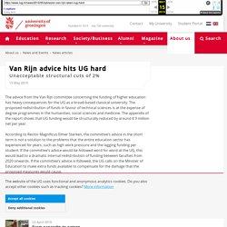 RUG - Van Rijn advice hits UG hard