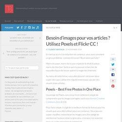 Besoin d'images pour vos articles ? Utilisez Pexels et Flickr CC