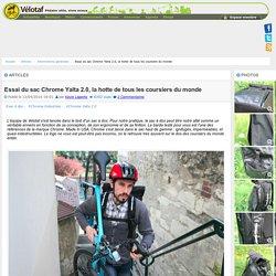 Les Articles de Vélotaf : Essai du sac Chrome Yalta 2.0, la hotte de tous les coursiers du monde