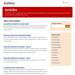 Articles on web writing - 4 Syllables