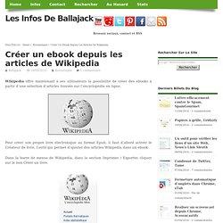Créer un ebook depuis les articles de Wikipedia