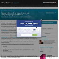 Trier l'ordre des articles WordPress par glisser/déposer