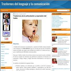 Trastornos de la articulación y expresión del habla