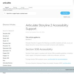 Articulate Storyline 2 Accessibility Support - Articulate Support