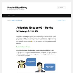 Pinched Head Blog » Articulate Engage 09 – Do the Monkeys Love it?