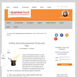 10 Best Articulate Presenter Tricks and Tips