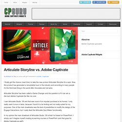 Articulate Storyline vs Adobe Captivate | CP Guru - Adobe Captivate Widgets