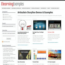 Articulate Storyline E-Learning Demos & Training Examples