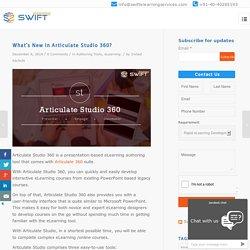 Articulate Studio 360 new features, Articulate 360
