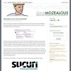 Dave Mozealous — Articulate technology and tech usability.