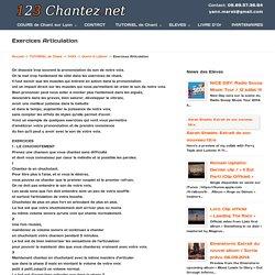 Exercices Articulation - 123chantez.net - Cours de Chant à Lyon.