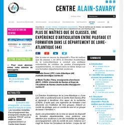 Plus de maîtres que de classes, une expérience d'articulation entre pilotage et formation dans le département de Loire-Atlantique (44)