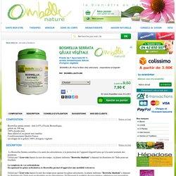 Boswellia serrata Boswellie Articulations Douleur articulaire extrait à 65 % arthrose asthme crohn