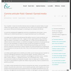 Comme articuler Paid / Owned / Earned media ?