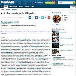 Artículos peculiares de Wikipedia