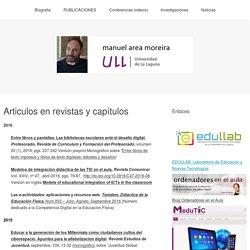 Articulos en revistas y capítulos – Manuel Area Moreira