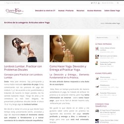 Articulos sobre Yoga