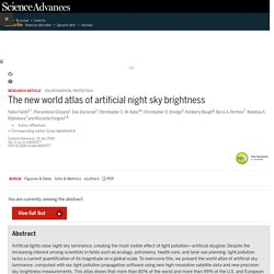 The new world atlas of artificial night sky brightness