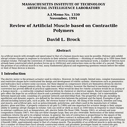 Review of Artificial Muscle based on Contractile Polymers