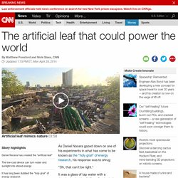 The artificial leaf that could power the world