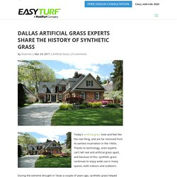 Dallas Artificial Grass Experts Share the History of Synthetic Grass