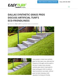 Dallas Synthetic Grass Pros Discuss Artificial Turf's Eco-Friendliness