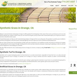 Purchase Less Water Consumed Synthetic Grass- Coastal Greenscapes