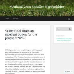 Is Artificial Grass an excellent option for the people of UK? – Artificial Grass Installer Hertfordshire