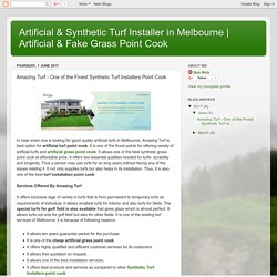 Artificial & Fake Grass Point Cook: Amazing Turf - One of the Finest Synthetic Turf Installers Point Cook