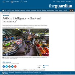 Artificial intelligence 'will not end human race'