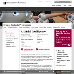 Artificial Intelligence - Graduate Schools of Science - University of Amsterdam